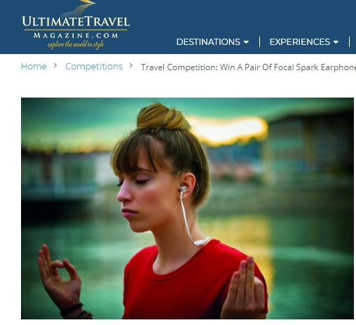 Ultimate Travel Magazine New Zealand Escape Sweepstakes - Chance To Win A Pair of Focal Spark Headphones