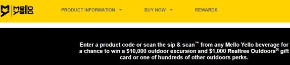 Mello Yello Outdoor Reward Sweepstakes - Chance To Win A $1,000 Realtree Store Gift Certificate, Hat And Realtree koozie