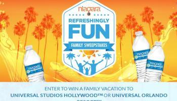 Niagara Refreshingly Fun Family Sweepstakes - Win A Trip
