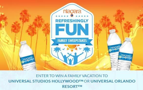 Niagara Refreshingly Fun Family Sweepstakes - Enter To Win Trip To Los Angeles, California
