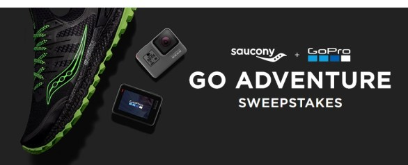 Saucony GoPro Adventure Sweepstakes - Enter To Win A GoPro HERO5 Black And A Pair Of Running shoes