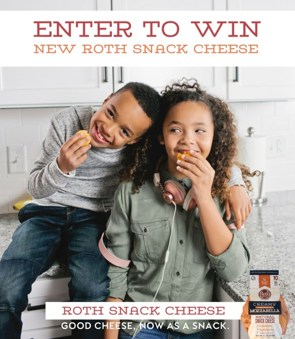 Roth Cheese Snack Cheese Giveaway - Enter To Win 100 Bags Of Snack Cheese