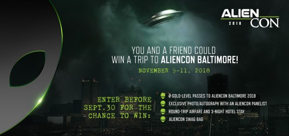 AlienCon Baltimore Galactic Sweepstakes - Chance To Win A Trip For Two