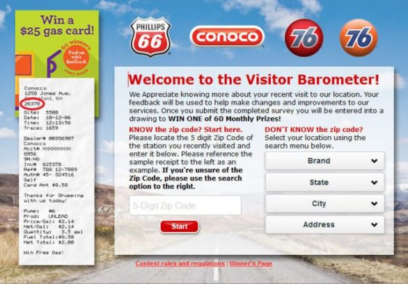 GasVisit.com Sweepstakes - Enter To Win Monthly $25 Gas Cards