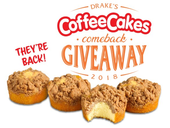 Drake's Coffee Cakes Comeback Giveaway - Enter To Win A Case of Drake's Coffee Cakes