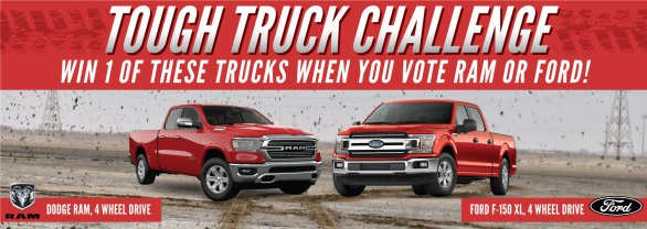 Bootdaddy Truck Giveaway - Enter To Win Ford or Dodge 4 Wheel Drive Truck