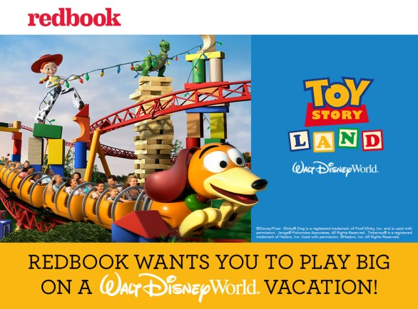 Redbook Play Big Sweepstakes - Chance To Win A Trip To Walt Disney World Resort