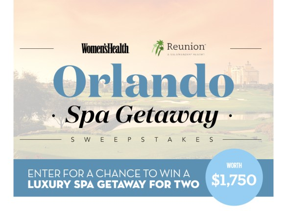Women's Health Orlando Spa Getaway Sweepstakes - Enter To Win Luxury Spa Getaway For Two