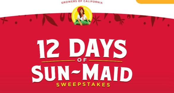 12 Days Of Sun-Maid Sweepstakes – Win Custom Holiday Cards