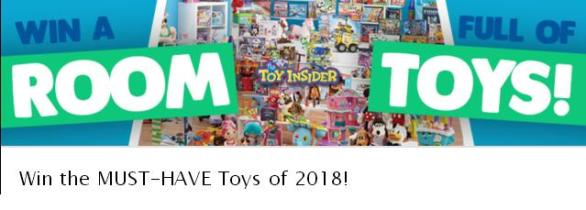 2018 Room Full of Toys Holiday Sweepstakes – Win Prize Pack Of Various Toys