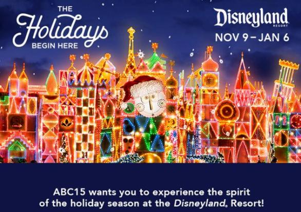 ABC15 Disneyland Resort Tickets Sweepstakes Contest – Win Disneyland Tickets