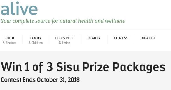 Alive Sisu Prize Packages Contest – Win Sisu Prize Package