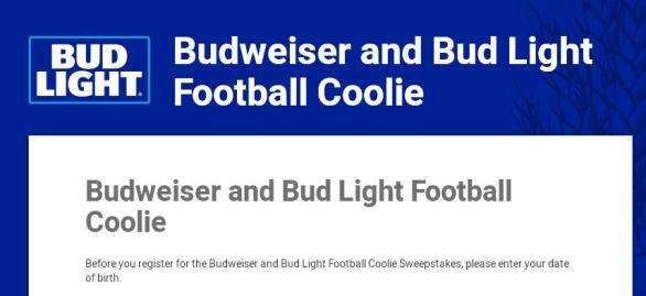 Budweiser And Bud Light Football Coolie Sweepstakes – Stand Chance To Win Budweiser And Bud Light Football Coolie Pack