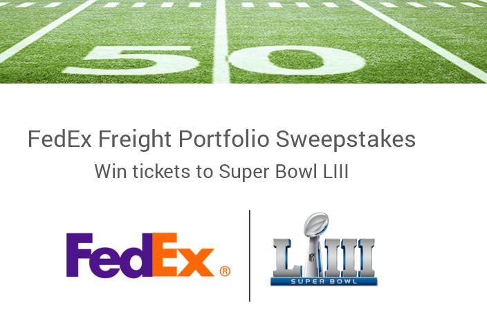 Freight Portfolio NFL Super Bowl LIII Sweepstakes – Win A Trip To Super Bowl LIII