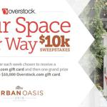 HGTV Your Space Your Way $10k Sweepstakes – Win $10,000 Gift Card