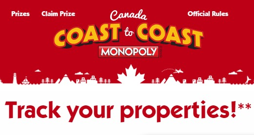 McDonalds Coast to Coast Monopoly Sweepstakes - Enter To Win Vacation In Riviera Maya