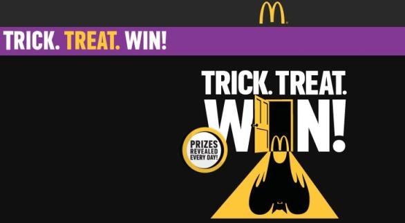 Mcdonald's Trick. Treat. Win Instant Win Sweepstakes – Win Frightfully Fun Prizes
