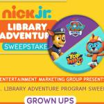 Nick Jr.'S Library Adventure Program Sweepstakes
