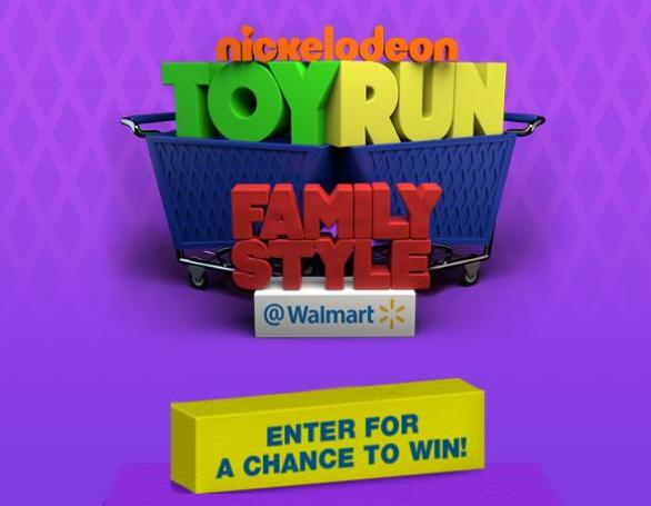 Nickelodeon Toy Run Family Style At Walmart Sweepstakes – Win A Trip Package