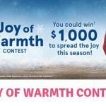 Quaker Joy Of Warmth Contest – Win A $1,000 Cash Prize