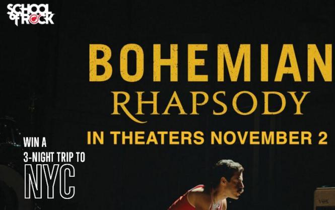 School Of Rock Bohemian Rhapsody Sweepstakes – Win A Trip