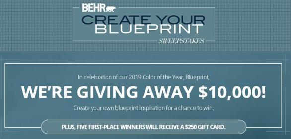The BEHR Create Your Blueprint Sweepstakes – Win A $10,000 Check
