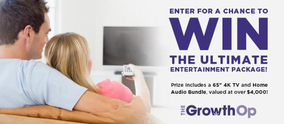The Growthop Contest – Win An Audio Video Entertainment Package