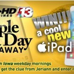 Who TV Channel 13's Fall Apple A Day Giveaway - Enter To Win Apple 9.7-inch iPad Wi-Fi Tablet