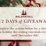 Balsam Hill's 12 Days Of 2018 Giveaways