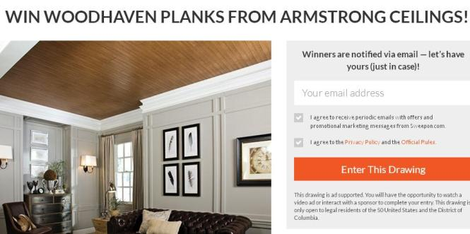Bauer Magazine Win WoodHaven Planks Sweepstakes