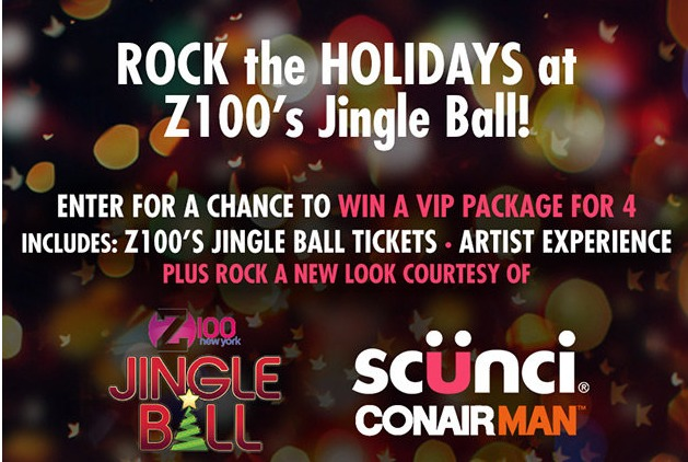 Conair/Scunci Hair Accessories Jingle Ball Sweepstakes - Stand To Win 4 Tickets And Artist Experience