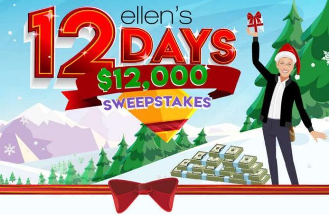 Ellen 12 Days $12K Sweepstakes