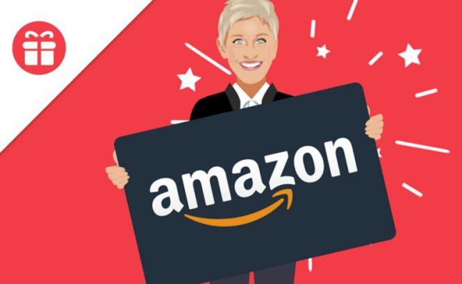 Ellen DeGeneres $2,000 Amazon Gift Card Giveaway