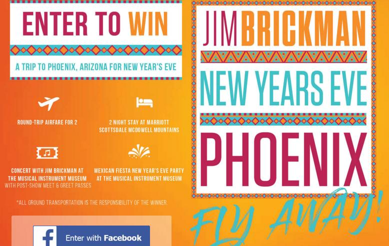 Jim Brickman New Year's Eve Flyaway Contest – Win A Trip To Phoenix