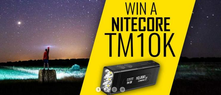 NITECORE TM10K Flashlight Giveaway – Win NITECORE TM10K Flashlight