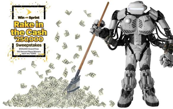 Sprint Rake in the Cash $250,000 Sweepstakes