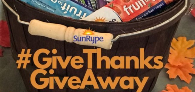 SunRype GiveThanks ThanksGiving Giveaway