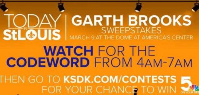 Today In St. Louis 2018 Garth Brooks Tickets Sweepstakes