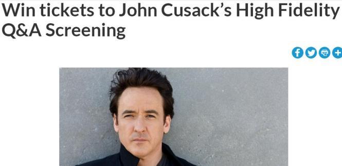 WHLK John Cusack's High Fidelity Q&A Screening Contest