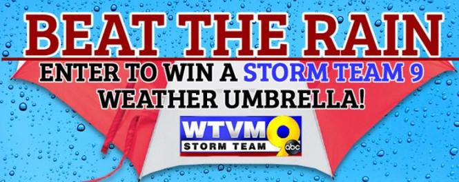 WTVM & Energy Savers Weather Umbrella Giveaway