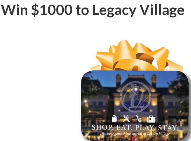 iHeartRadio $1000 To Legacy Village Contest