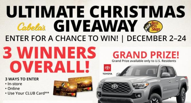 Bass Pro Christmas 2020 Bass Pro Shops Ultimate Christmas Giveaway – Win 2020 Toyota