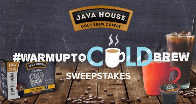 JAVA HOUSE Cold Brew Pods Sweepstakes