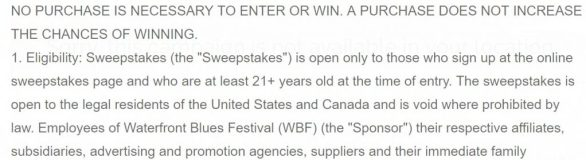 Waterfront Blues Festival 12 Days Of Sweepstakes - Chance To Win WBF Blues Fan Passes And More Prizes