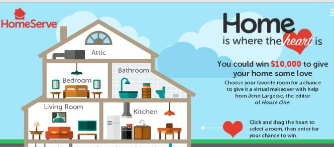 HomeServe Home Is Where The Heart Is Sweepstakes