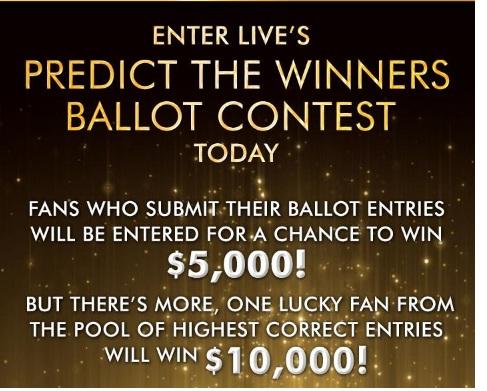 LIVE Predict The Winners Ballot Contest