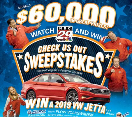 NBC29 News Check Us Out Sweepstakes