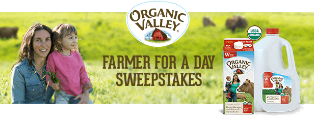 Organic Valley Milk Farmer for a Day Sweepstakes – Win A Trip To Stony Pond Farm