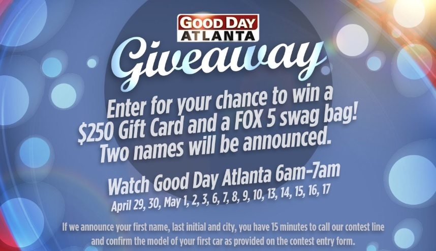 WWW FOX5ATLANTA GIVEAWAY COM