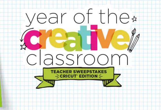 Michaels Year of Creative Classroom Cricut Sweepstakes - Win